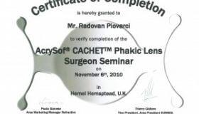 Primár Piovarči získal certifikáciu pre šošovku Cachet