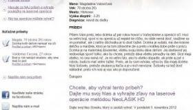 Hlasujte za príbeh Aleny a vyhrajte zľavu 500 EUR na laserovú operáciu NeoLASIK HD
