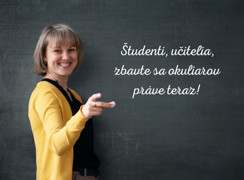 Prázdninová zľava pre študentov a učiteľov