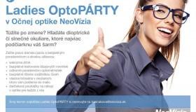 Ladies OptoPárty  v Očnej optike NeoVízia už vo štvrtok 26.6.2014