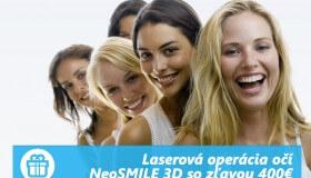 Laserová operácia metódou NeoSMILE 3D s narodeninovým bonusom 400 EUR