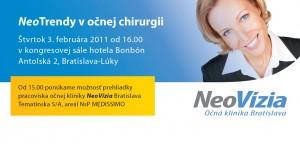 Pozvánka na seminár - Očná klinika NeoVízia Bratislava